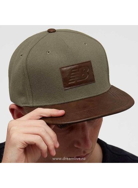 New Balance, Cap, Olive/Leather