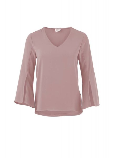 Saint tropez, R1243 Blouse with slit at slevee, Lilac