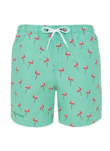 Colourful Rebel Colourful Rebel, Swimshort flamingo classic, Aqua