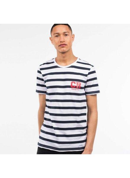 Colourful Rebel Colourful Rebel, Tee CR stripes basic, White
