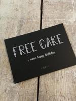 KAART KUIF, FREE CAKE
