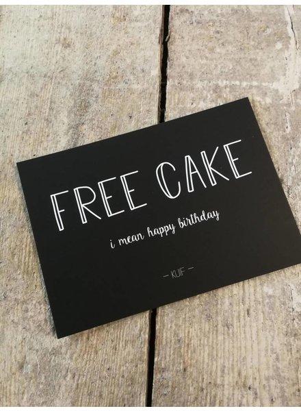 Kaartenlijn Kuif, Free Cake
