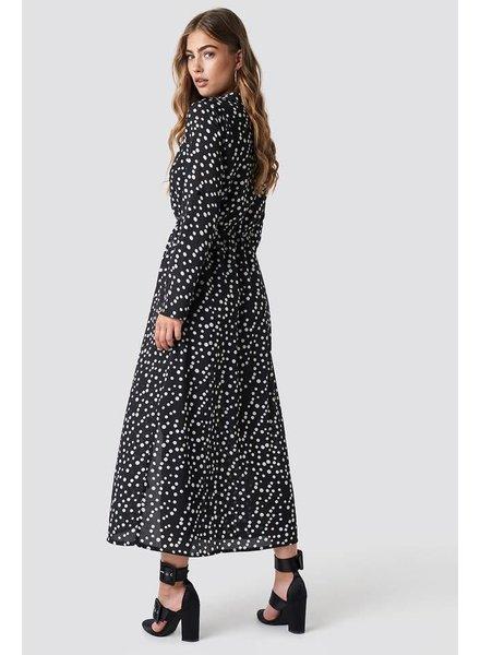 Rut&Circle Rut & circle,  Dot Long Dress, Black