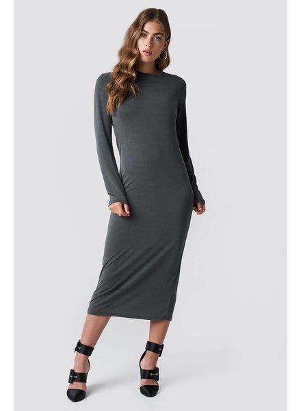 Rut & Circle, Polo Midi Dress, Grey