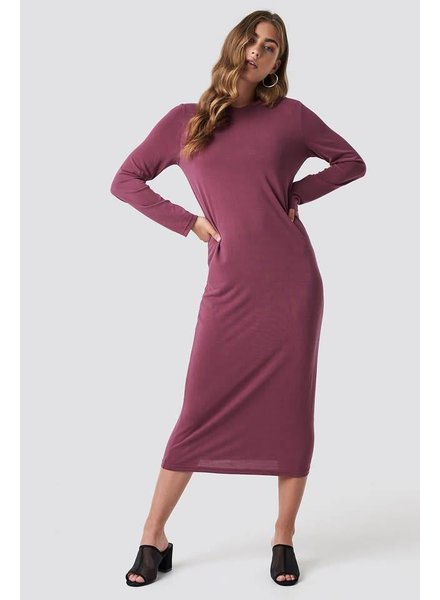 Rut & Circle, Polo Midi Dress, Wine Red