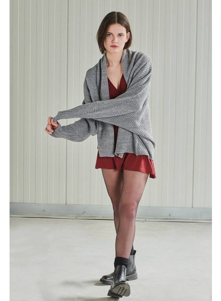 24Colours, Cardigan knitted, Grey
