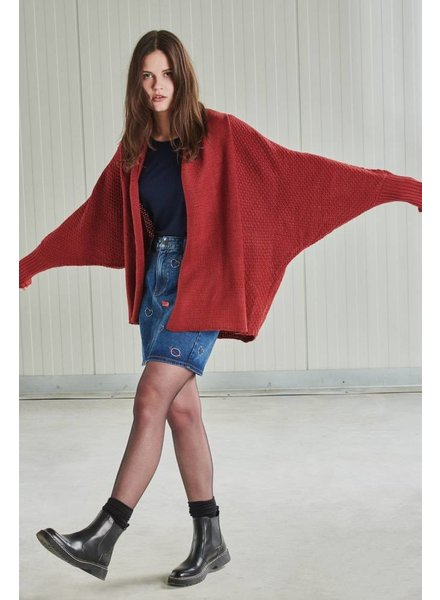 24Colours, Cardigan knitted, Bordeaux