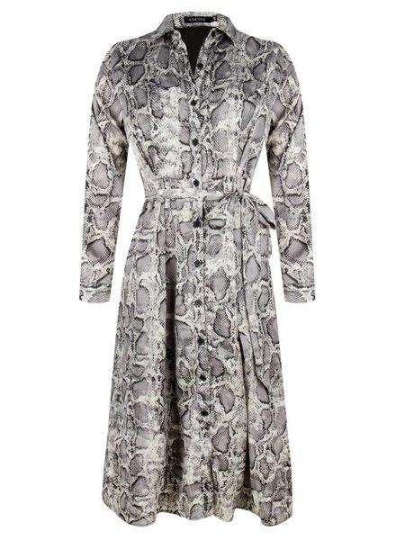 Ydence Dress Elois, Grey snake