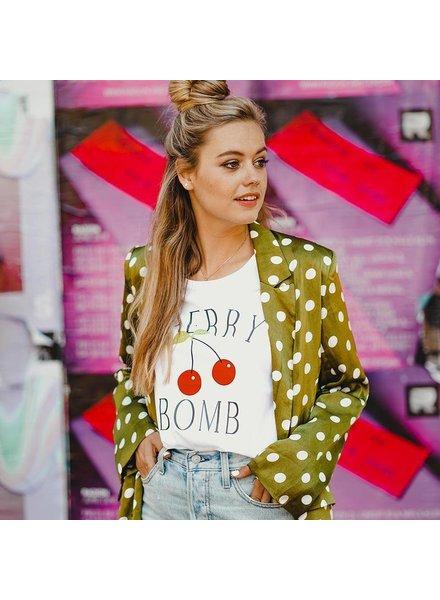 Forever friday, T-shirt cherry bomb, White