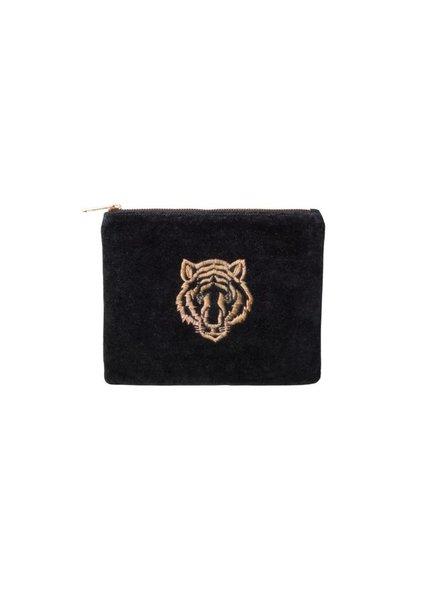 Bulu brands Bulubrands, Tiger clutch, Velvet black