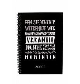 zoedt Zoedt, Vakantie Invulboek, Black