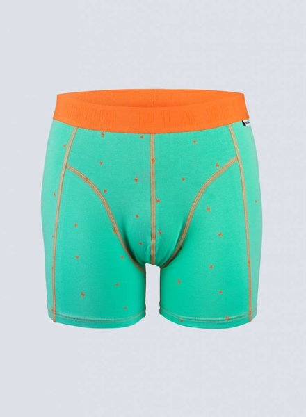 Cheaque, Boxer P'LA SEUR, Oranje/Groen
