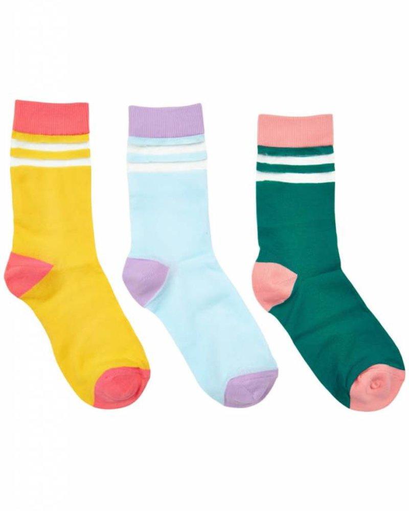 Nümph Nümph, Katti 3- pack socks, Yellow Blue Green