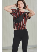 24Colours 24 Colours, T-Shirt Striped, 11179a Red/Black