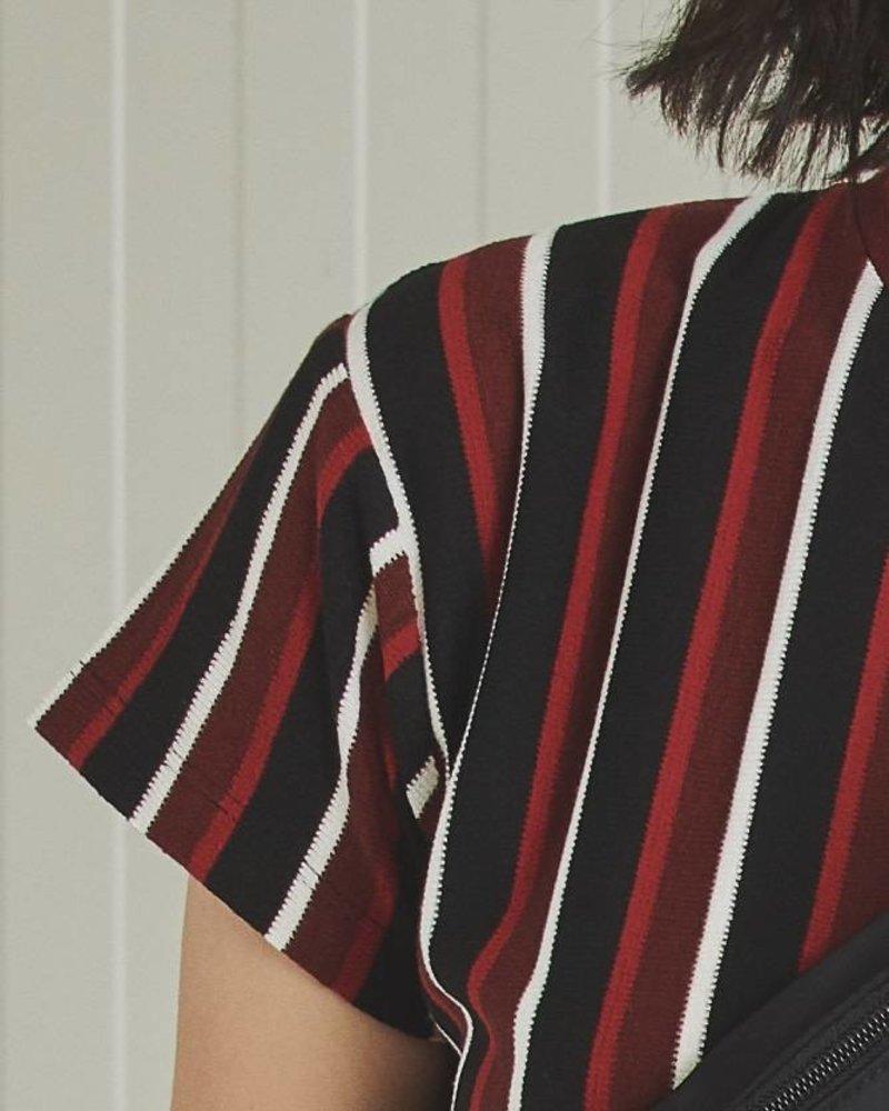 24Colours 24 Colours, T-Shirt Striped, 11179a Red/Black