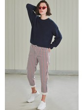 24Colours 24 Colours, Mom Jeans 80217, Navy/Red/White
