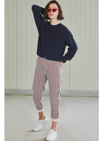 24 Colours, Mom Jeans 80217, Navy/Red/White
