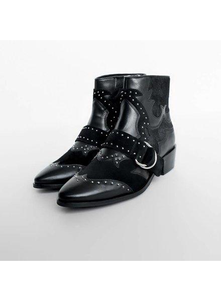 Bronx Cow vintage boots, Black