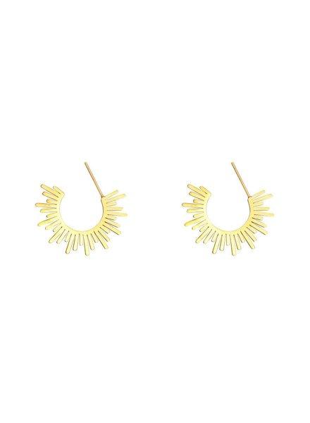 KUIF KUIF YW, Earrings The Scratch, Gold