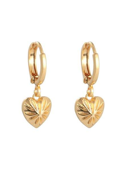 KUIF KUIF YW, Earring Love Story, Gold