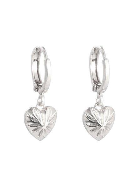 YW, Earring Love Story, Silver
