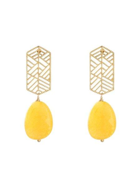 KUIF YW, Earrings Sunset Dream, Gold/Yellow