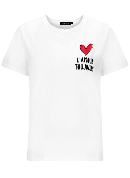 Ydence Ydence, T-shirt L'amour, White