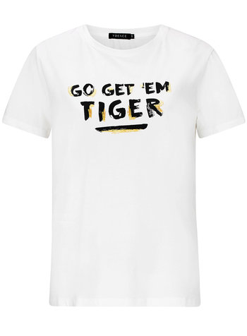 Ydence Ydence, T-shirt Tiger, White