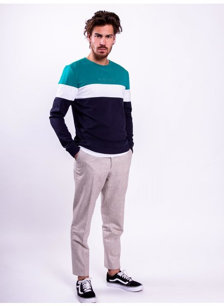 Colourful Rebel Colourful Rebel, Colourblock Sweater, Teal/Navy