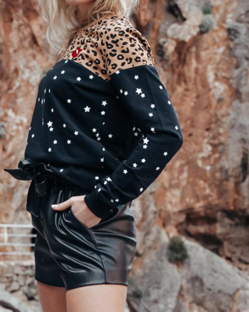 Colourful Rebel Colourful Rebel, Jazz Paperbag Short, Black