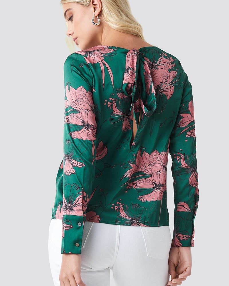 Rut & Circle, Blouse open back, Green