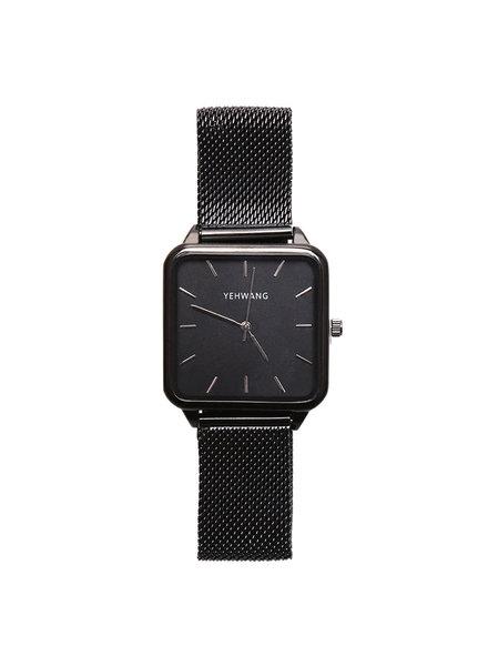 KUIF YW, Horloge quartz, Black/Black