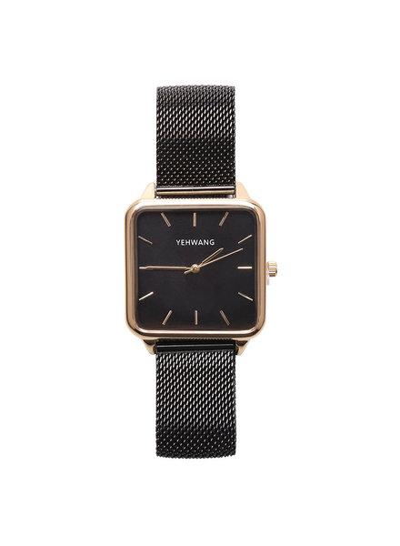 KUIF YW, Horloge quartz, Black/Gold