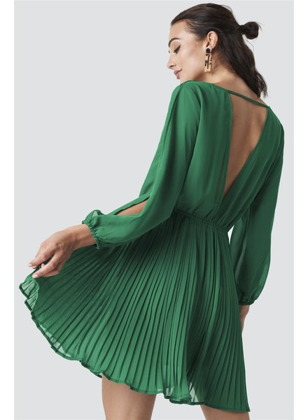 Rut & Circle, Dress wrap pleat, Green