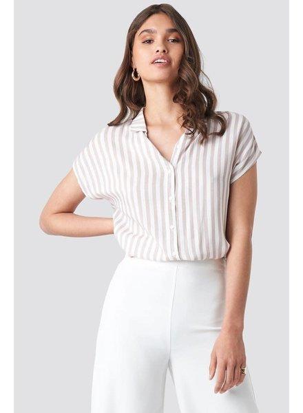 Rut&Circle Rut and Circle, Short Sleeve Stripe Shirt
