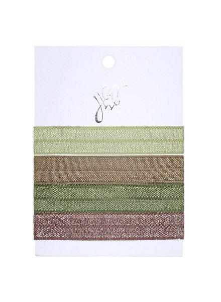YW, Hairtie, Earth Tone Green