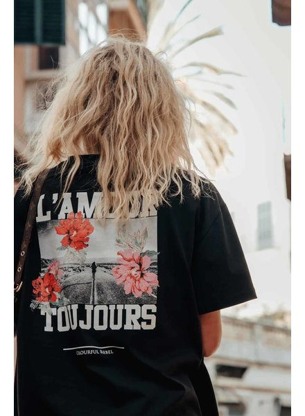Colourful Rebel Colourful rebel, Tee oversized L'amour Toujours, Black
