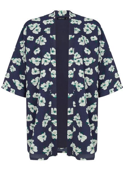 Ydence Ydence, Kimono June, Flower blue