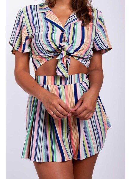 Colourful Rebel, Short Ysia Striped, Multicolor