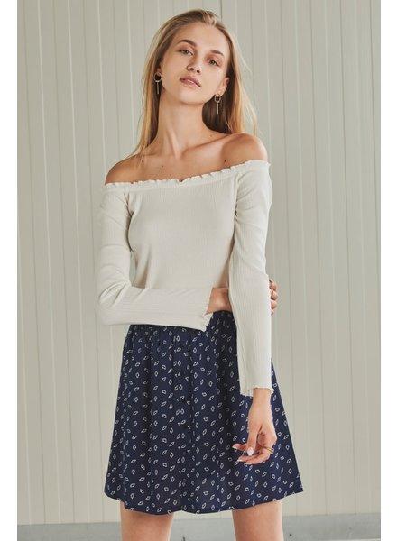 24Colours 24Colours, Navy print skirt