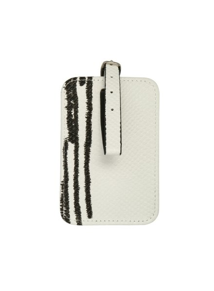 YW, Suitcase tag Marble, White