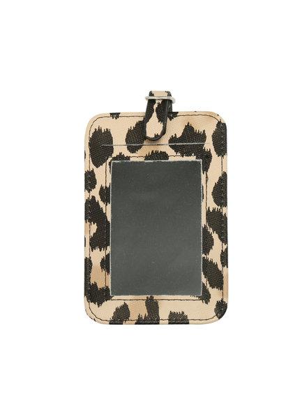 YW, Suitcase tag, Leopard
