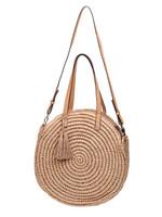 YW, Wicker Beach Bag Round Summer