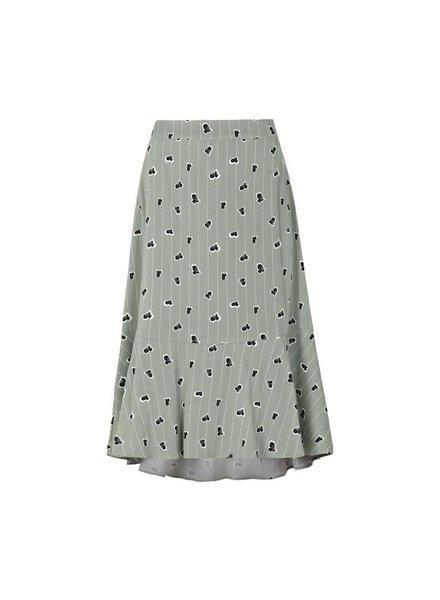 KUIF Lined Ease Midi Skirt, Green