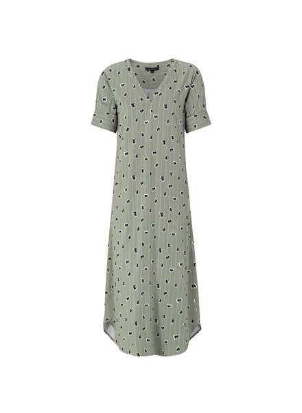 KUIF Lined Ease SS Tunic Dress, Green