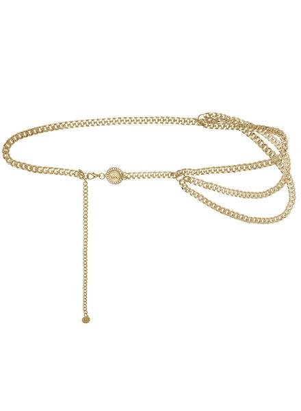 YW, Chain belt when in rome, Gold
