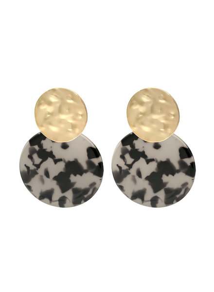 YW, Earrings Wild One, Grey