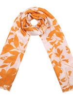 YW, Scarf Retro Leaves, Orange