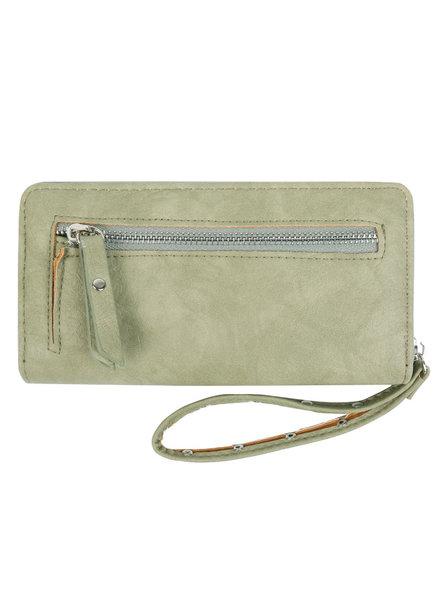 YW, Wallet Trend Zipper, Green