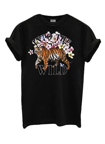 T-shirt Into the wild, Black